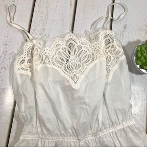 04068b7972da Victoria s Secret Intimates   Sleepwear - Victoria s Secret White Romper  Small Sleep Bridal